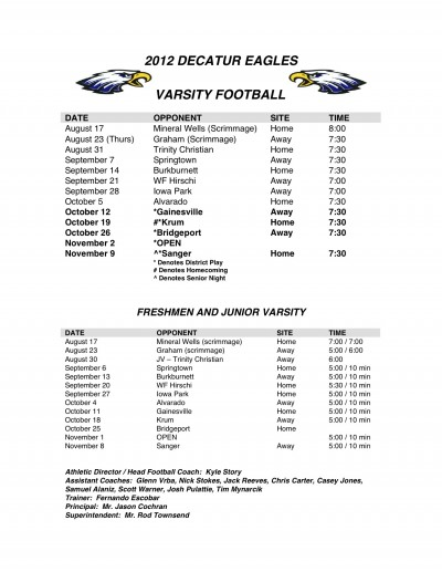 2012-2013 Varsity Football