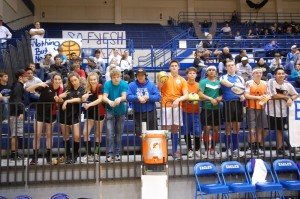 Fans exhibit nontraditional spirit at varsity basketball games