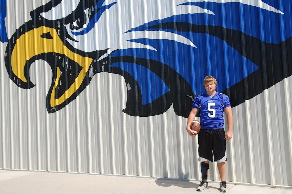 Senior varsity football player makes comeback