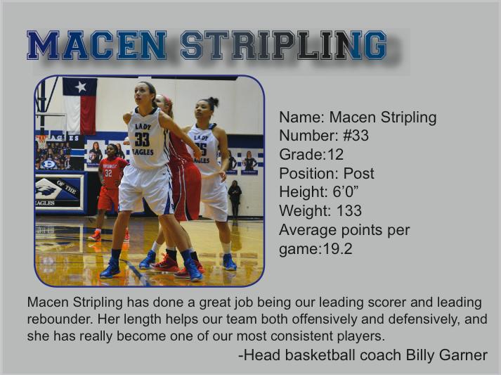 All-Star Athletes -Macen Stripling