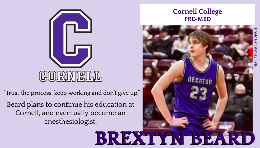 Brextyn Beard Signs With Cornell College for Basketball