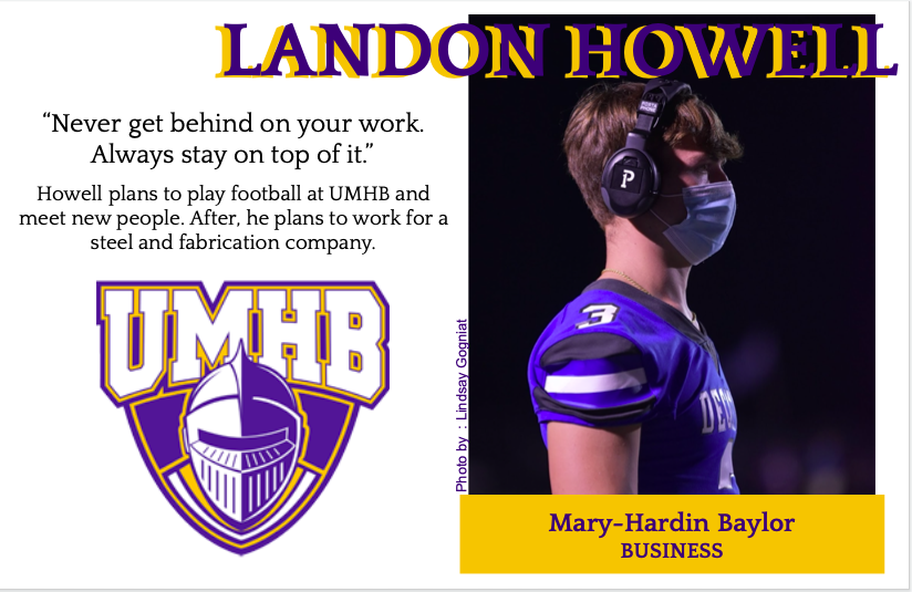 Landon Howell Signs With UMHB for Football