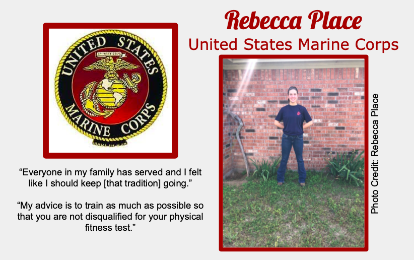 Rebecca Place Signs With USMC
