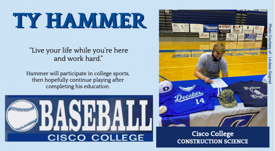 Ty Hammer Signs With Cisco for Baseball