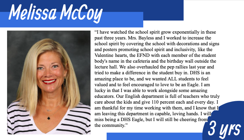 McCoy Says Goodbye to DHS