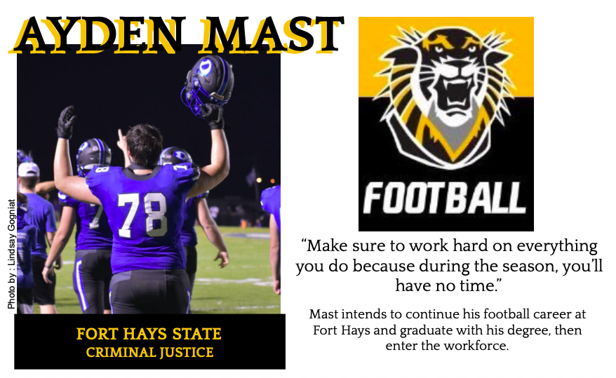 Ayden Mast Signs With Fort Hays for Football