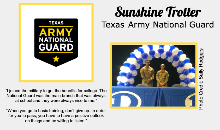 Sunshine Trotter Joins Texas Army National Guard
