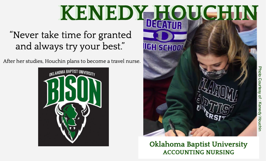 Kenedy Houchin Signs with Oklahoma Baptist for Volleyball