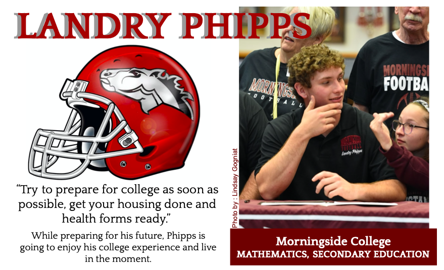 Landry Phipps Signs With Morningside for Football