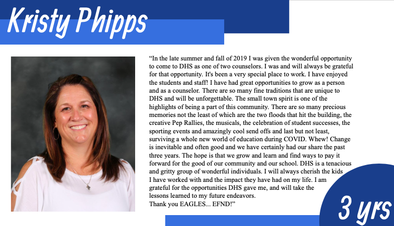 Kristy Phipps Says Goodbye to DHS