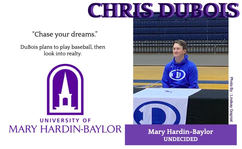 Chris DuBois Signs With Mary Hardin Baylor for Baseball