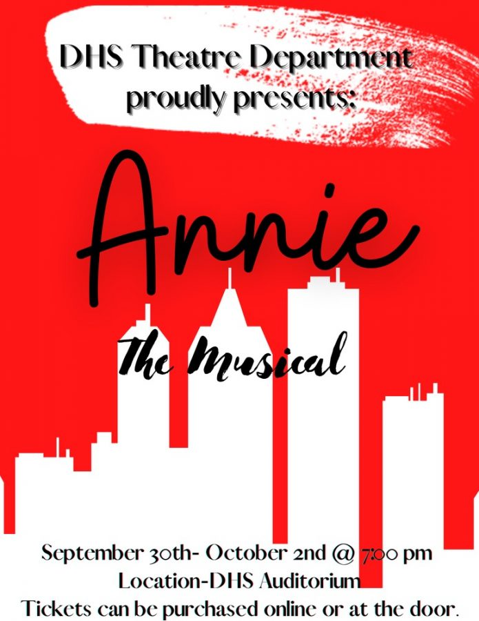 Annie JR. starring Izzy Kissinger opens Thursday night. Tickets cost $10 online and $15 at the door.